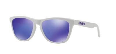 Occhiale-da-sole-Oakley-Frogskin-9013-35-White-Lenti-Violet-Iridium-Trasmittanza-17-sinistro-Ottica-Centro-Russi-Ra-Lookmaker