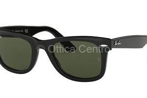 Occhiale da sole Ray-Ban Wayfarer 901 black lenti crystal green