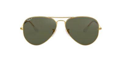 Ray Ban 3025 001/58 Gold e lenti green polarized
