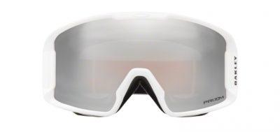 Occhiale da sci Oakley Mask Snow 7093 07-Line Miner XM Matte White lenti Prizm Snow Black Iridium Trasmittanza 5,5 front Ottica Centro Russi Ravenna.