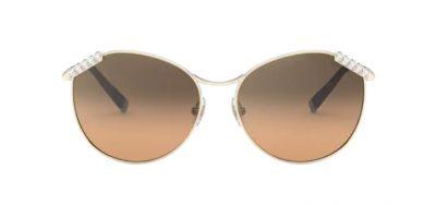 Occhiali da sole Tiffany & Co 3073B 60213B Pale gold lenti Brown gradient silver mirror collezione Wheat Leaf ottica Centro Russi Ravenna