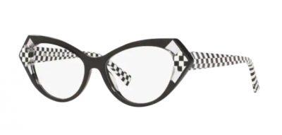 Il modello Alain Mikli 3108 001 Isabeau è in acetato black and white un mix di non colore prediletto da Alain Mikli.