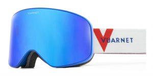 Vuarnet wide ski mask 2020 0003 for skiig blue metallic lente grey blue flash Ottica Centro Russi Ravenna