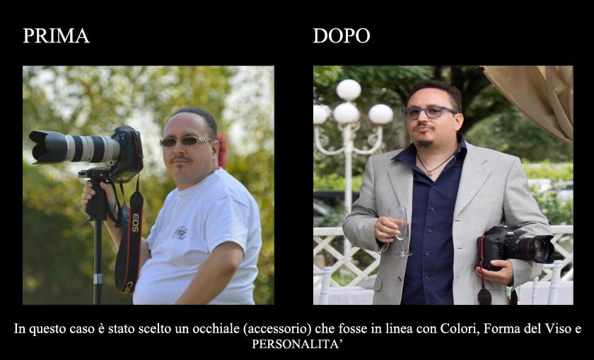 Prima e dopo consulenza di immagine eseguita Cinzia Piscitelli