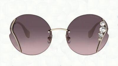 Occhiali-da-sole-Miu-Miu-50X-Pale-Gold-lenti-pink-gradient-grey-front-Ottica-Centro-Russi-Ravenna